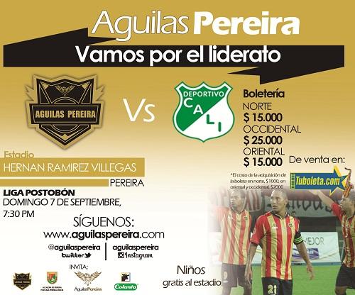 Promocion Boleteria Aguilas VS D. Cali