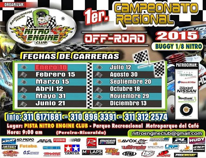 CALENDARIO CARRERAS 2015 Automodelismo