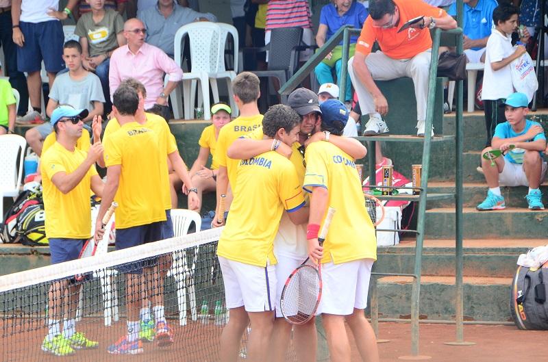 Equipo Colombiano suramericano Tenis