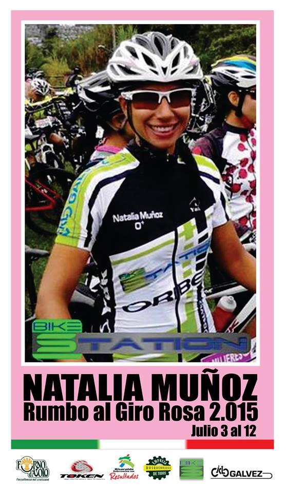 Natalia Muñoz en el Giro