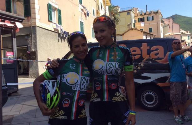 Natalia muñoz en el Giro Rosa