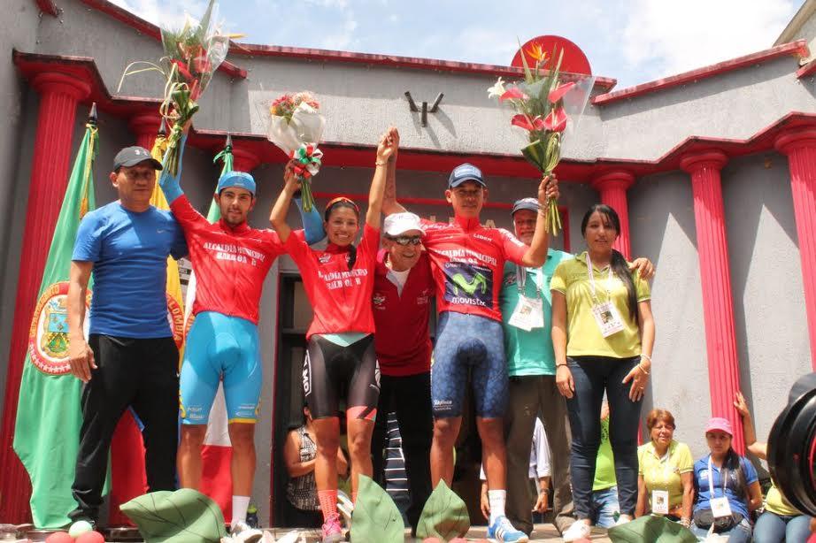 Ganadores de la primera etapa y a su vez, líderes. Fotos: Orlando Salazar Zapata.
